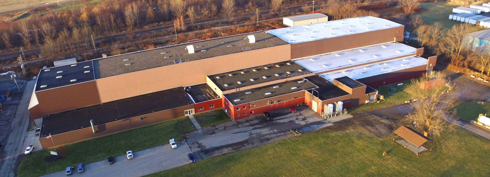 Drone shot of The Warren Company
